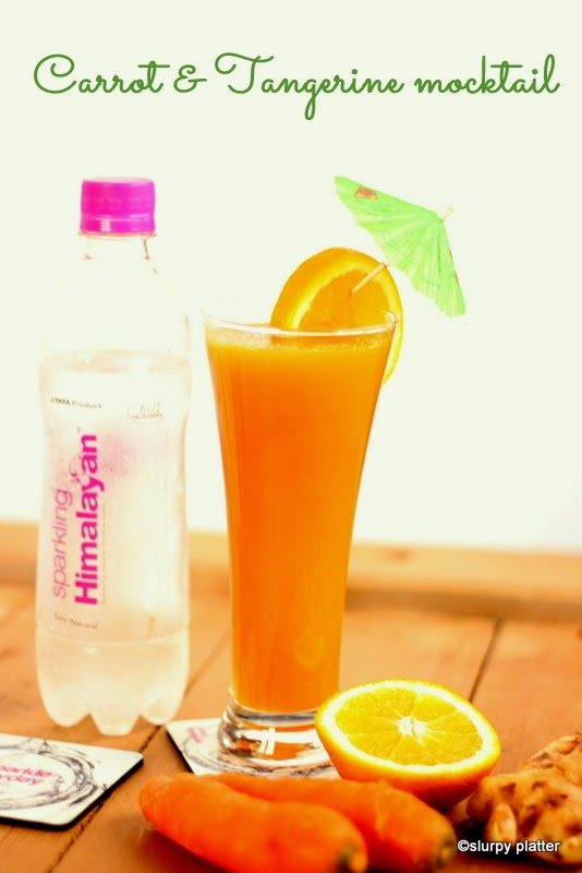 CARROT & TANGERINE MOCKTAIL WITH GINGER FOR SPARKLING HIMALAYAN CONTEST (IFBM 2014)