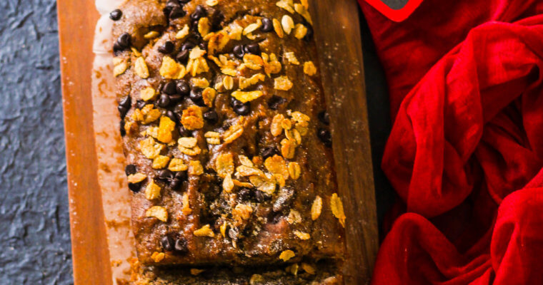 Whole Wheat Banana Bread | No Refined Sugar and Butter
