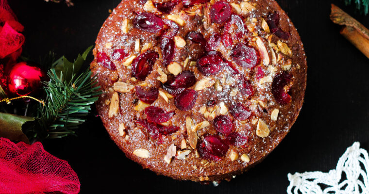 Eggless Christmas Fruit Cake | Plum Cake