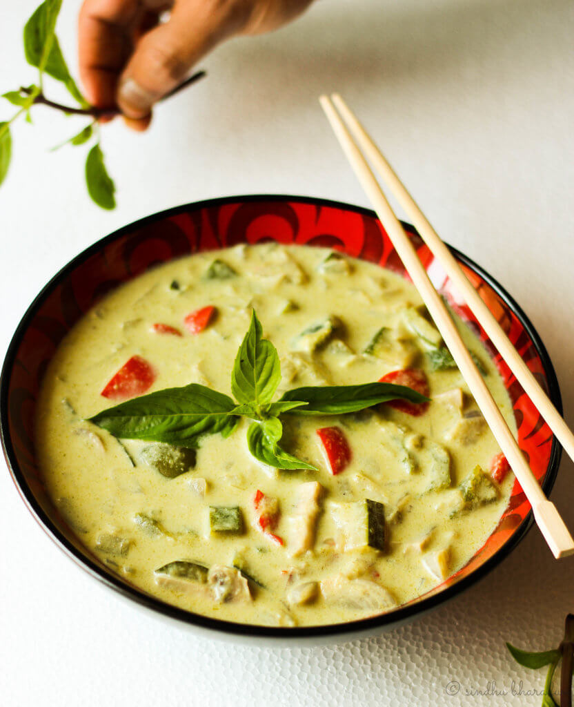 Thai Green Curry with Vegetables - Slurpy Platter