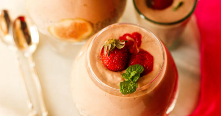 Strawberry Fig and Coconut Chia Pudding with Muesli