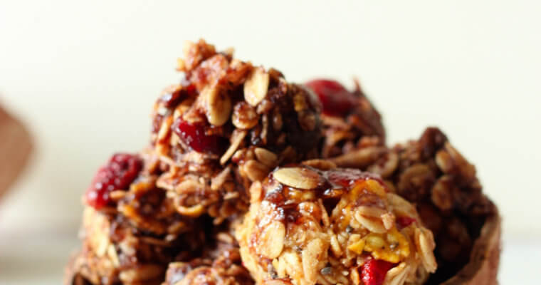 Healthy Muesli and Cranberry Energy Balls