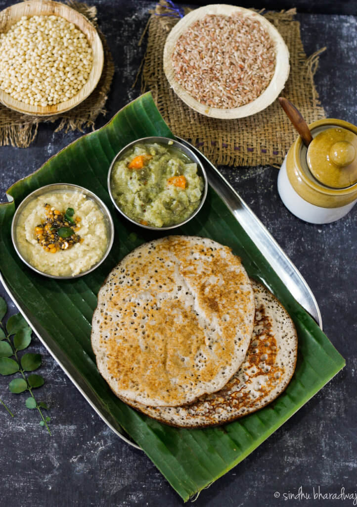 Red Rice Set Dosa - slurpy platter-1-2