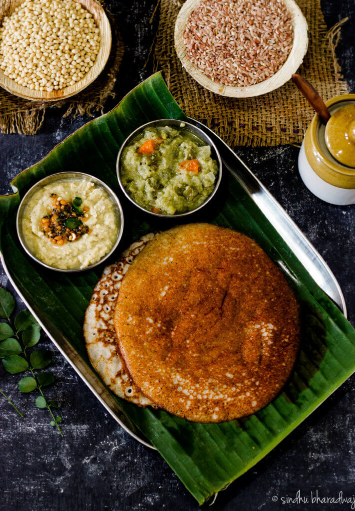 Red Rice Set Dosa - slurpy platter-1-3
