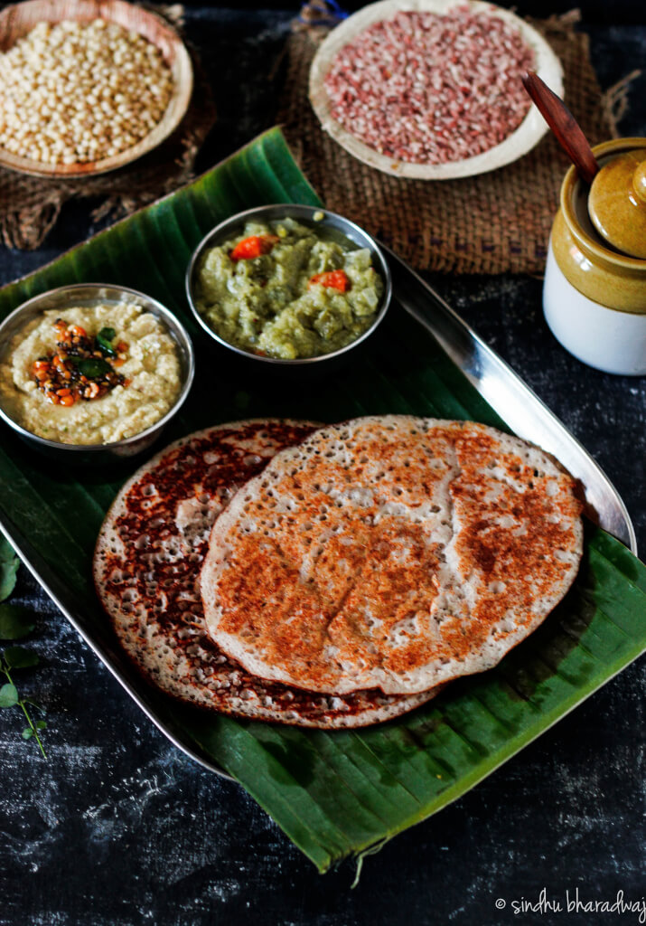 Red Rice Set Dosa - slurpy platter-1