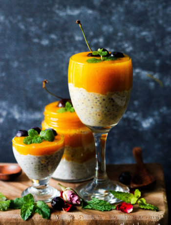 Gluten Free Vegan mango and Coconut Chia Pudding recipe - slurpy platter