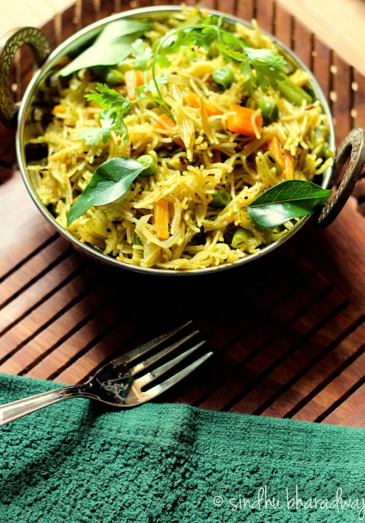 Vermicelli Biryani is a quick and easy one pot meal-dish that can be either made for breakfast or dinner. - Slurpy Platter