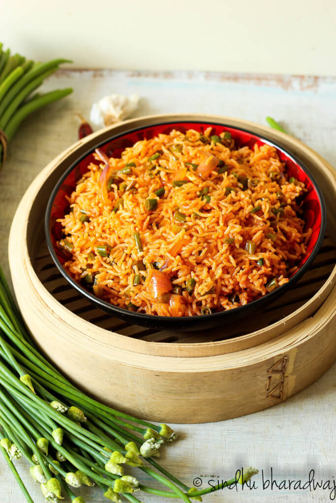 Chilli Garlic Fried Rice - Slurpy Platter-1