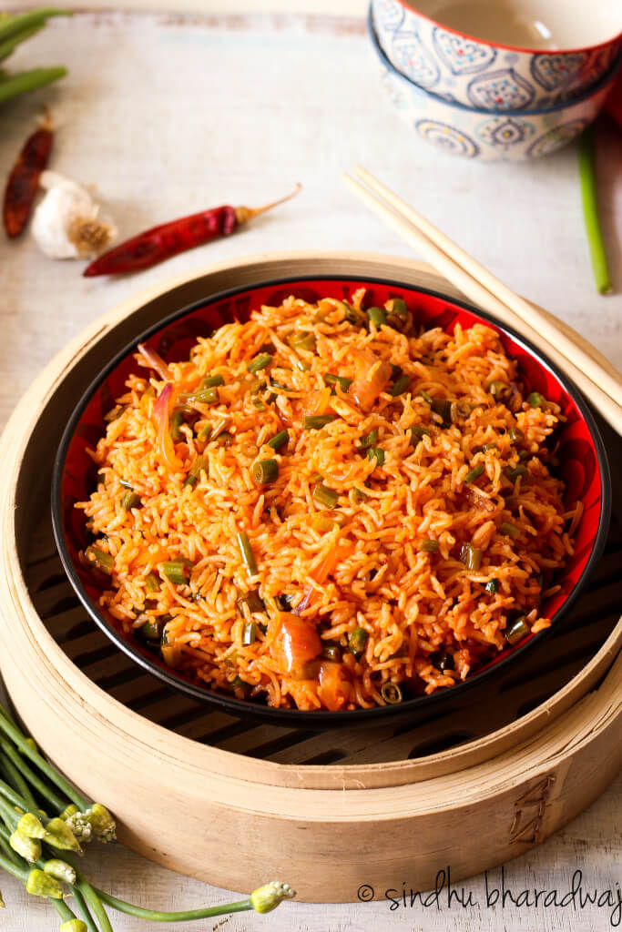 Chilli Garlic Fried Rice - Slurpy Platter-2