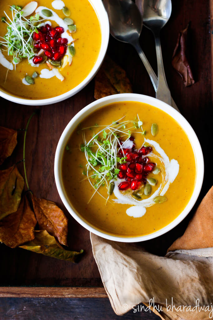 Vegan Roasted Pumpkin Soup - Slurpy PLatter-1